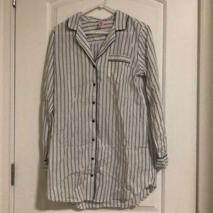 NWOT. Victoria Secret Striped Pajama Shirt